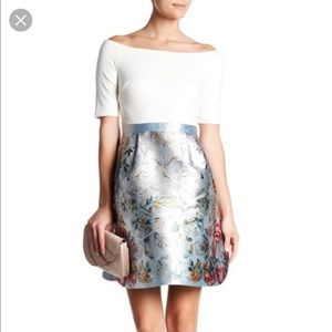 Ted Baker London Pale Blue Dewrose ALine Dress Sz3